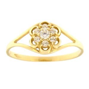 Kullast sõrmus tsirkoonidega Kood: 58pm