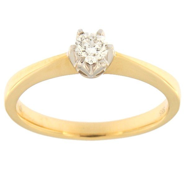 Gold ring with diamond 0,18 ct. Code: 59af