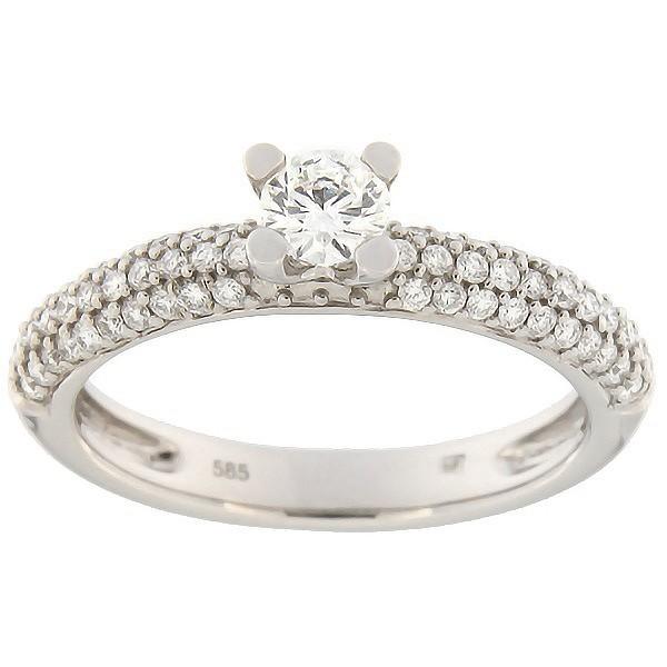 Kullast sõrmus teemantidega 0,54 ct. Kood: 60ae