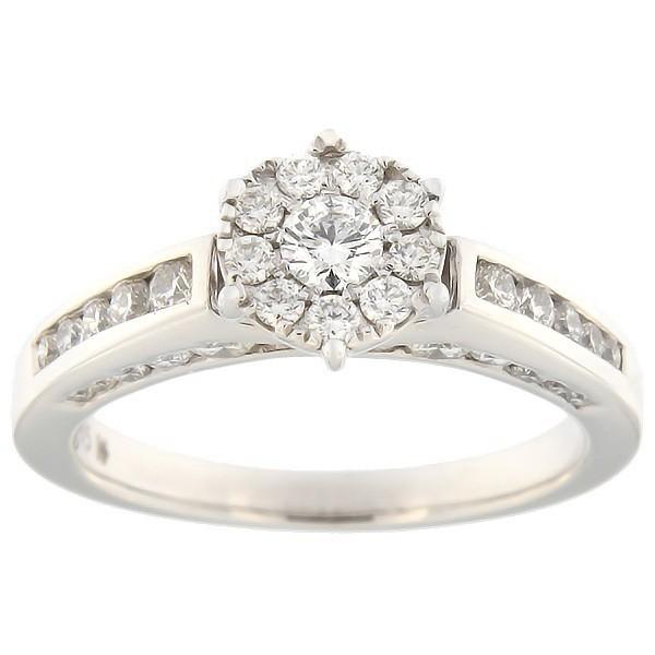 Kullast sõrmus teemantidega 1,00 ct. Kood: 61hk