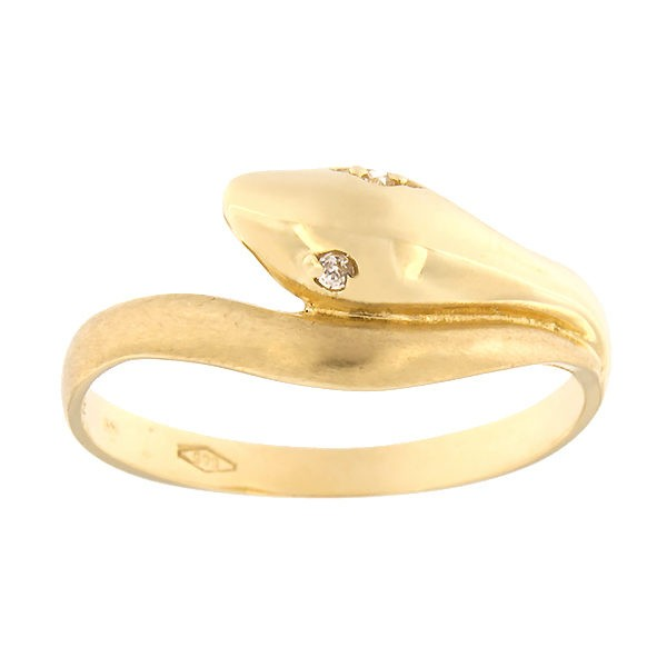 Gold ring with zircons Code: 63pa