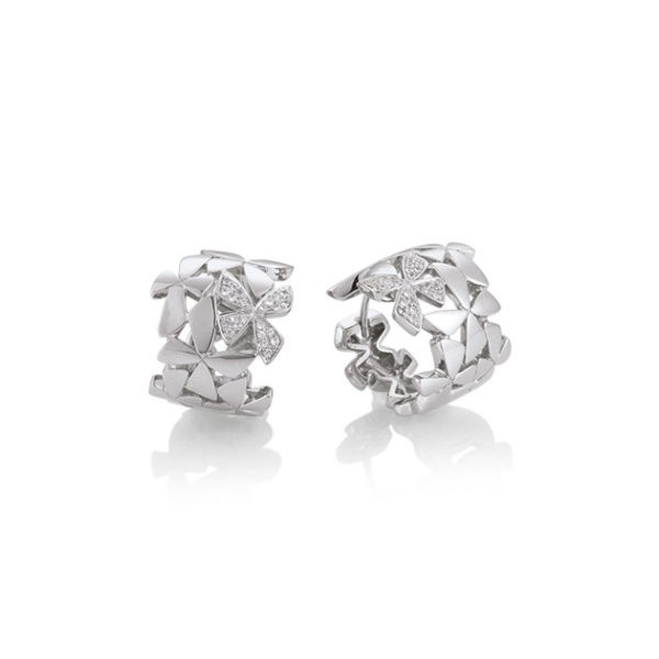 Silver earrings with white sapphire Code: 6607060