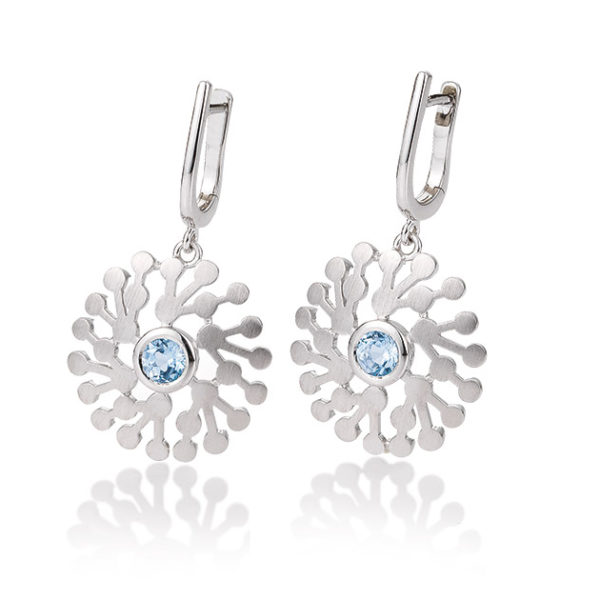 Silver earrings with blue topaz Code: 6607140