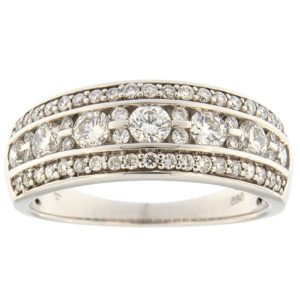 Gold ring with diamonds 0,74 ct. Code: 66ab