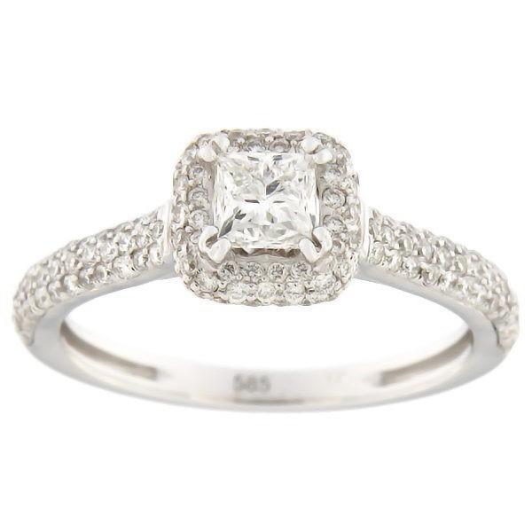 Золотое кольцо с бриллиантами 1,00 ct. Kод: 67aa