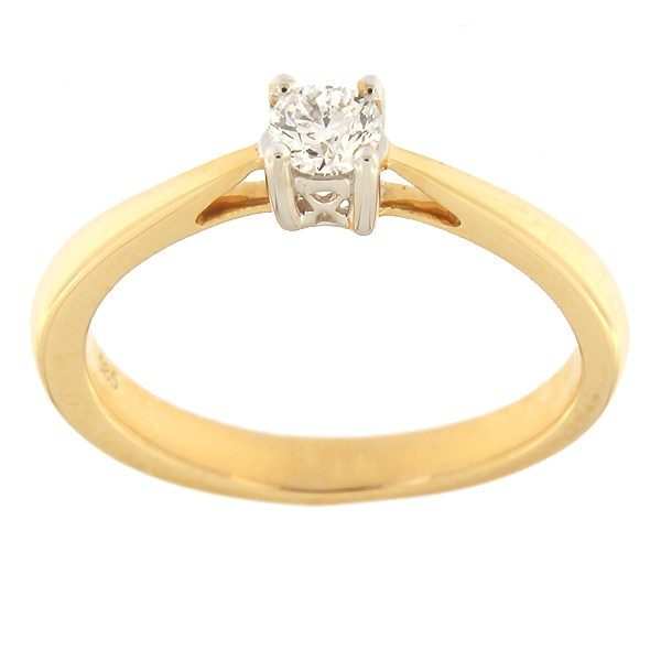 Gold ring with diamond 0,19 ct. Code: 67af