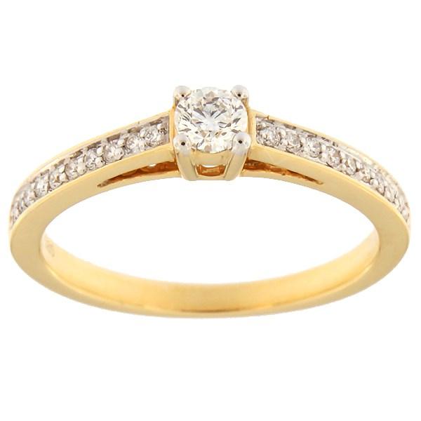 Kullast sõrmus teemantidega 0,26 ct. Kood: 69af