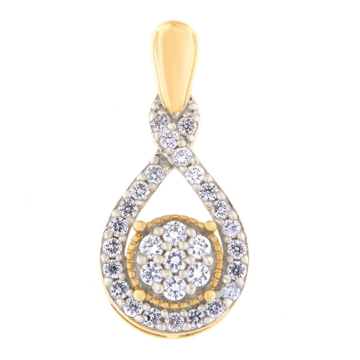 Kullast ripats teemantidega 0,25 ct. Kood: 70HB