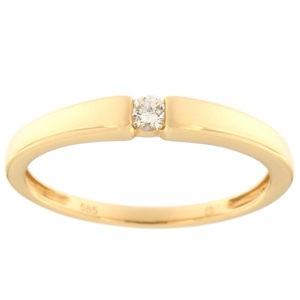 Kullast sõrmus teemantiga 0,07 ct. Kood: 71af