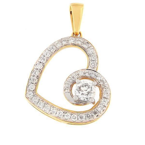 Gold pendant with diamonds 0,50 ct. Code: 73ha