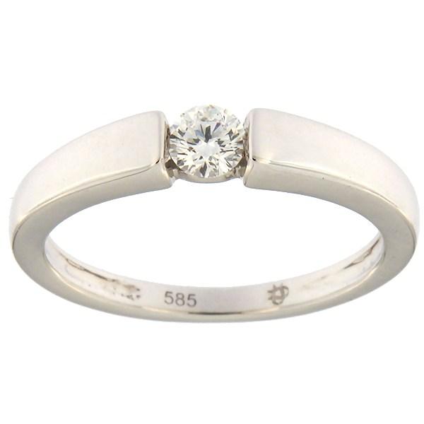 Kullast sõrmus teemantiga 0,14 ct. Kood: 75af