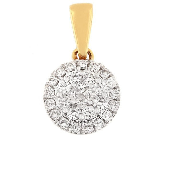 Kullast ripats teemantidega 0,50 ct. Kood: 76HB