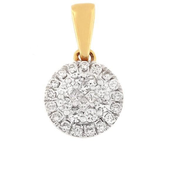 Gold pendant with diamonds 0,50 ct. Code: 76hb