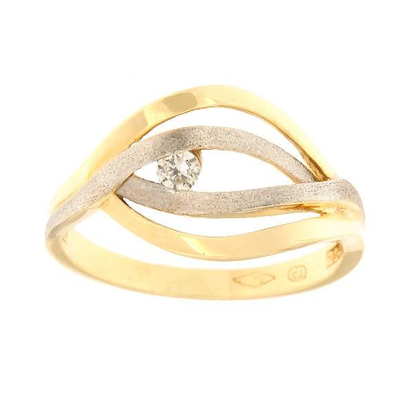 Kullast sõrmus tsirkooniga Kood: 77pt
