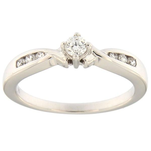 Kullast sõrmus teemantidega 0,20 ct. Kood: 78an