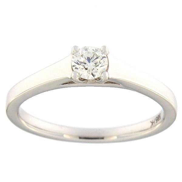 Kullast sõrmus teemantiga 0,25 ct. Kood: 79ha