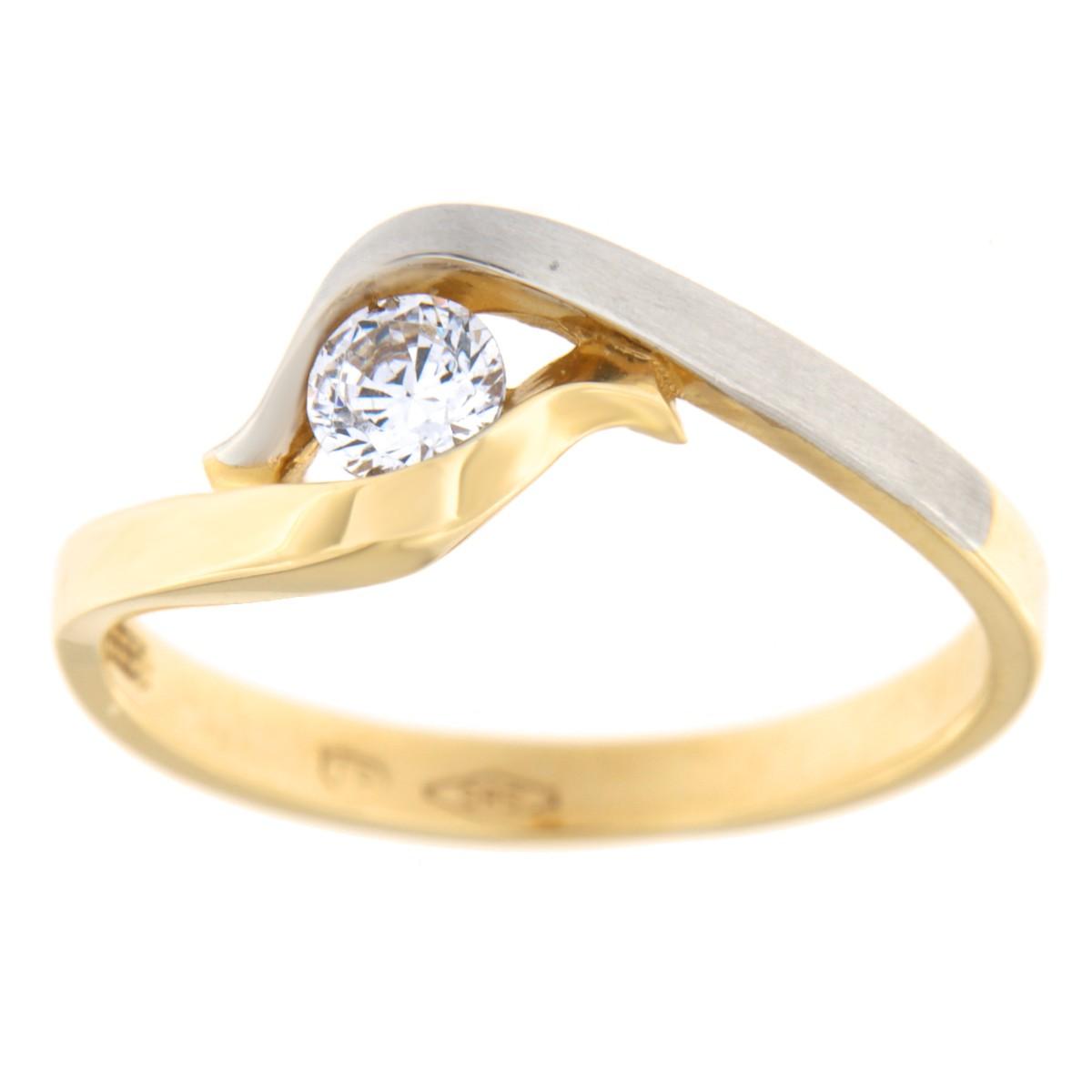 Kullast sõrmus tsirkooniga Kood: 79pt