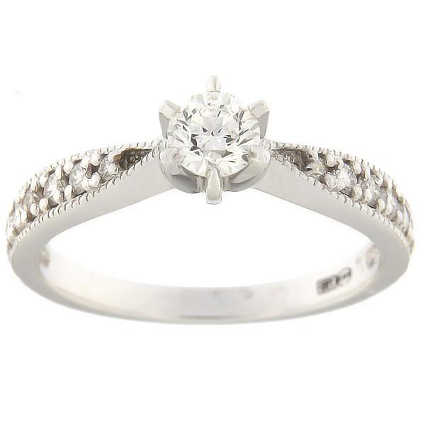 Kullast sõrmus teemantidega 0,53 ct. Kood: 7bb