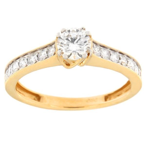 Kullast sõrmus teemantidega 0,63 ct. Kood: 82af