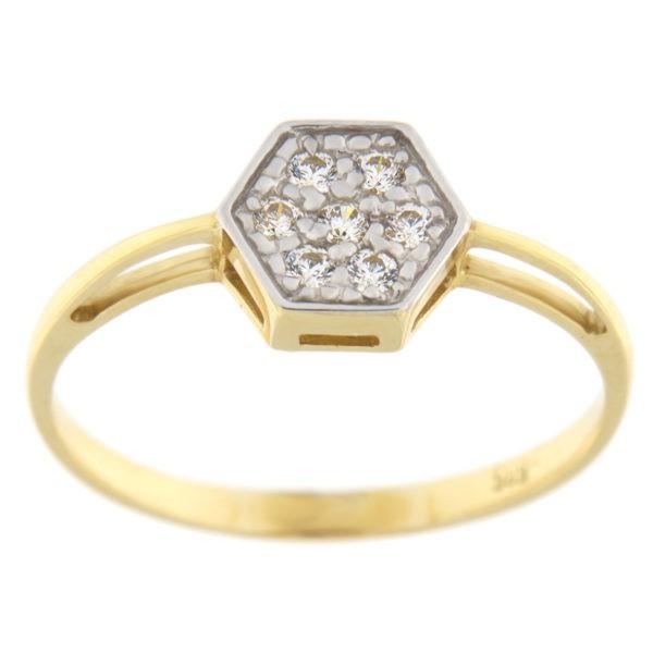 Kullast sõrmus tsirkoonidega Kood: 845wp441, 843wp441, 840wp441