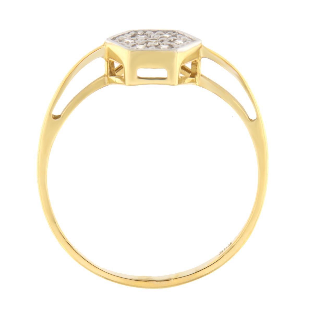 Kullast sõrmus tsirkoonidega Kood: 845wp441, 843wp441, 840wp441 külg