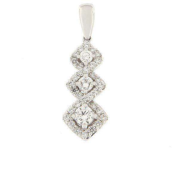 Gold pendant with diamonds 0,50 ct. Code: 84ak