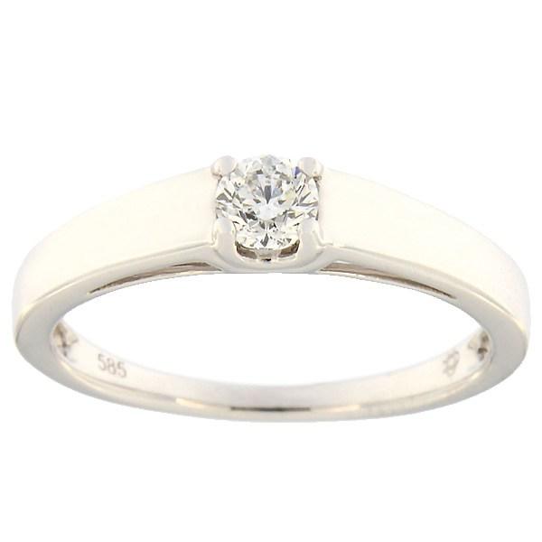 Kullast sõrmus teemantiga 0,25 ct. Kood: 86af