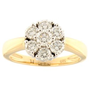 Kullast sõrmus teemantidega 0,80 ct. Kood: 87ak