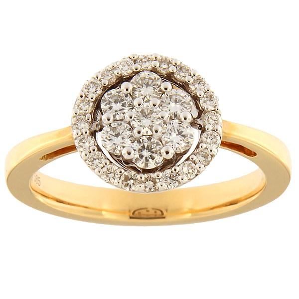 Kullast sõrmus teemantidega 0,45 ct. Kood: 88ax