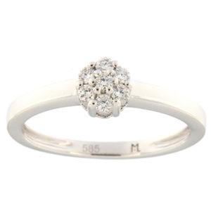 Kullast sõrmus teemantiga 0,15 ct. Kood: 93ak