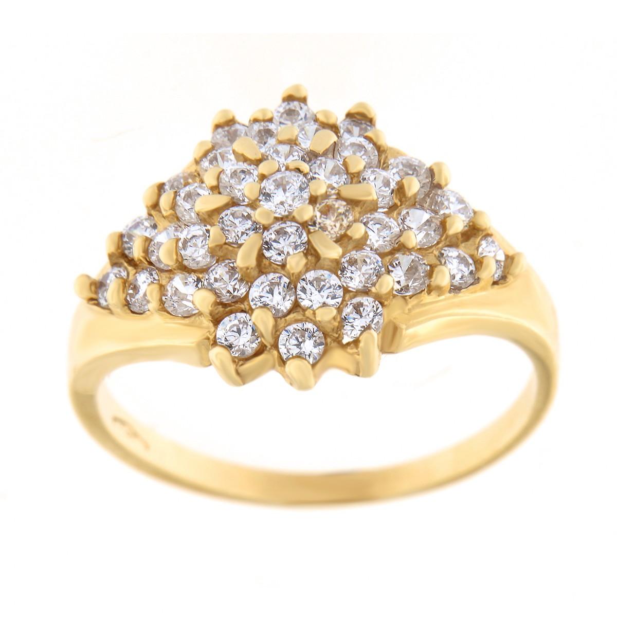 Kullast sõrmus tsirkoonidega Kood: 261pe, 95pt
