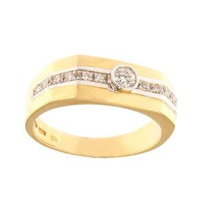 Золотая печатка с бриллиантами Kод: 966b