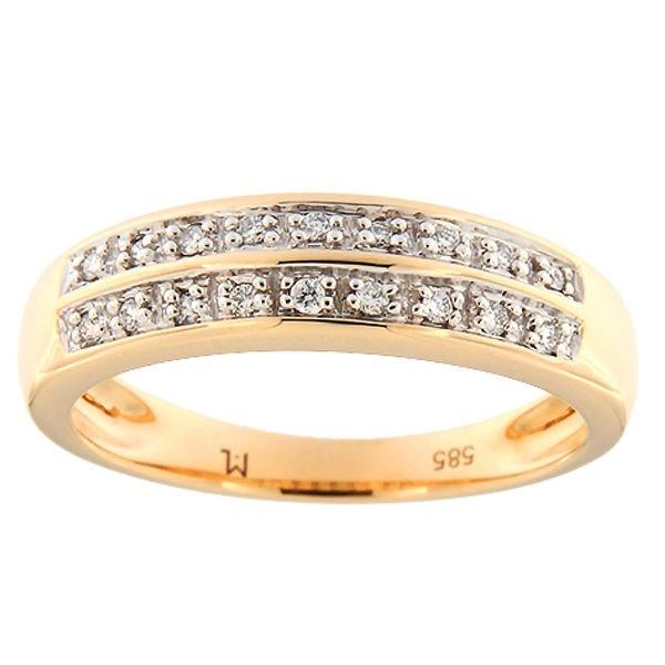 Kullast sõrmus teemantiga 0,09 ct. Kood: 96ak