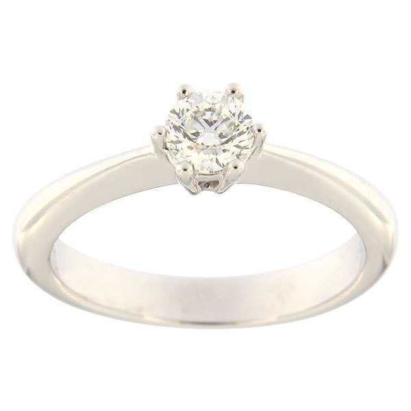 Kullast sõrmus teemantiga 0,38 ct. Kood: 97af