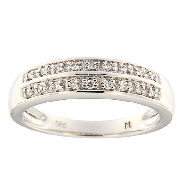 Gold ring with diamonds 0,09 ct. Code: 97ak