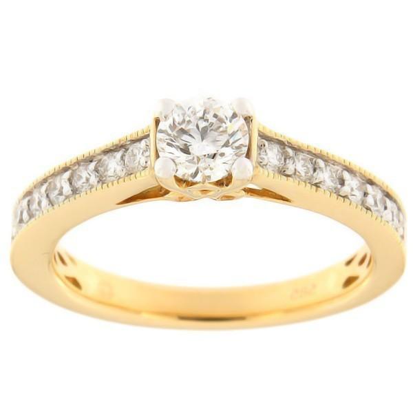 Kullast sõrmus teemantidega 0,67 ct. Kood: 98af