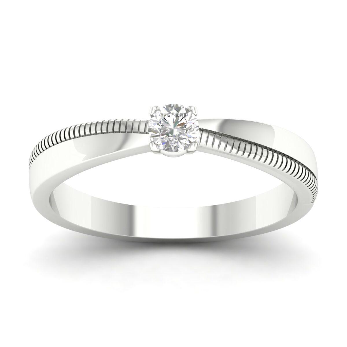 Kullast sõrmus teemantiga 0,25 ct. Kood: 81hb