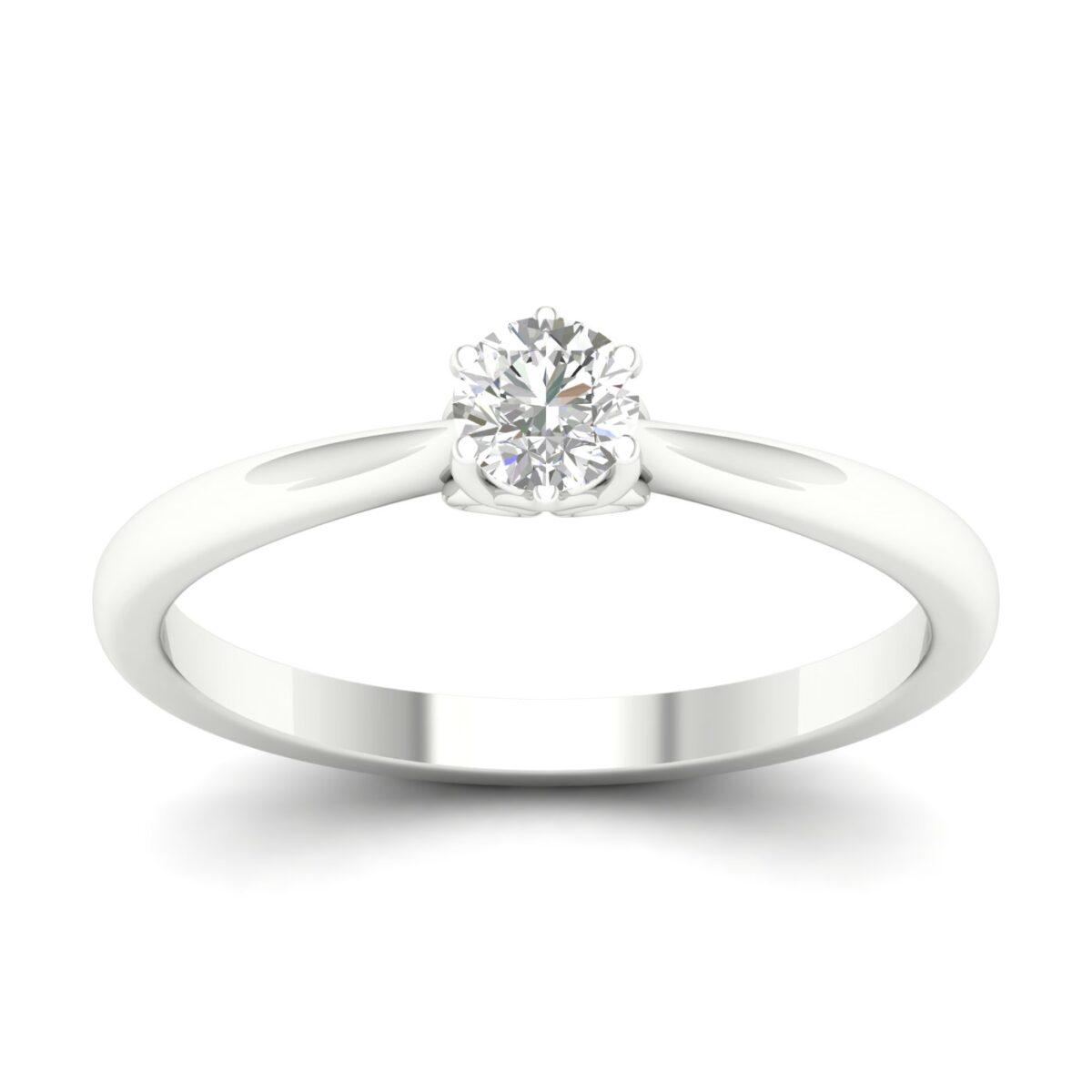 Kullast sõrmus teemantiga 0,25 ct. Kood: 83hb