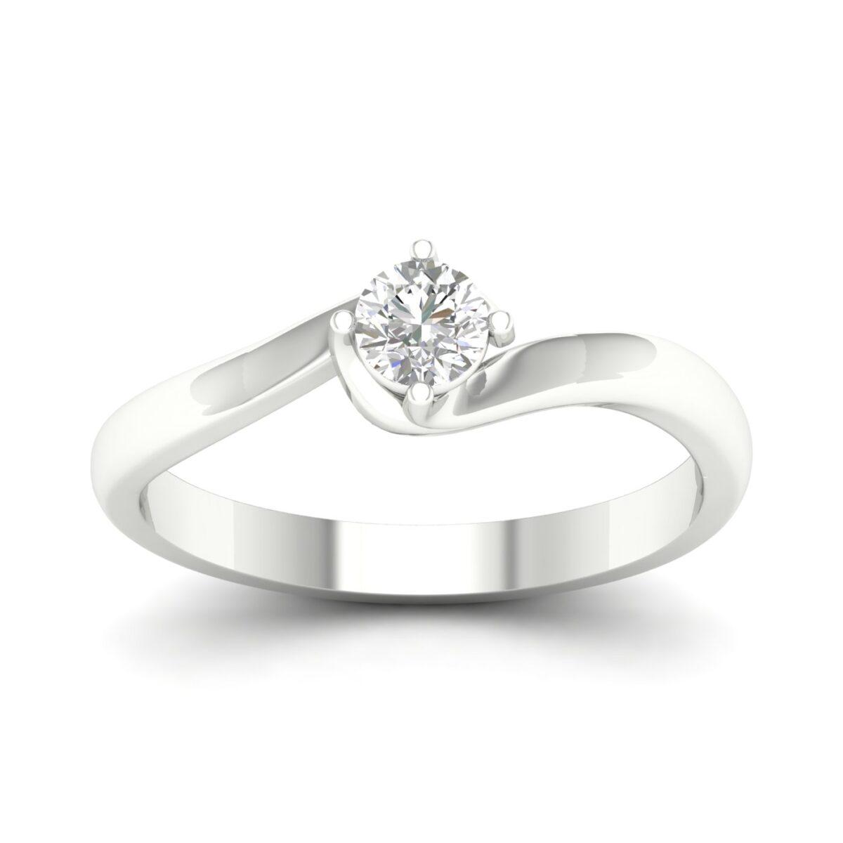 Kullast sõrmus teemantiga 0,25 ct. Kood: 43hb