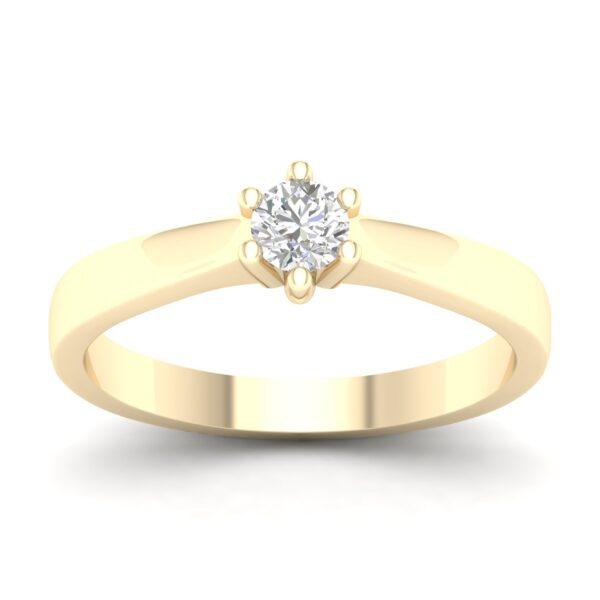 Kullast sõrmus teemantiga 0,30 ct. Kood: 17hb