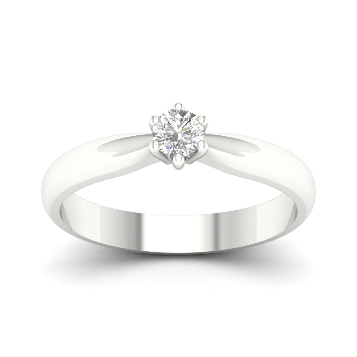 Kullast sõrmus teemantiga 0,15 ct. Kood: 38hb