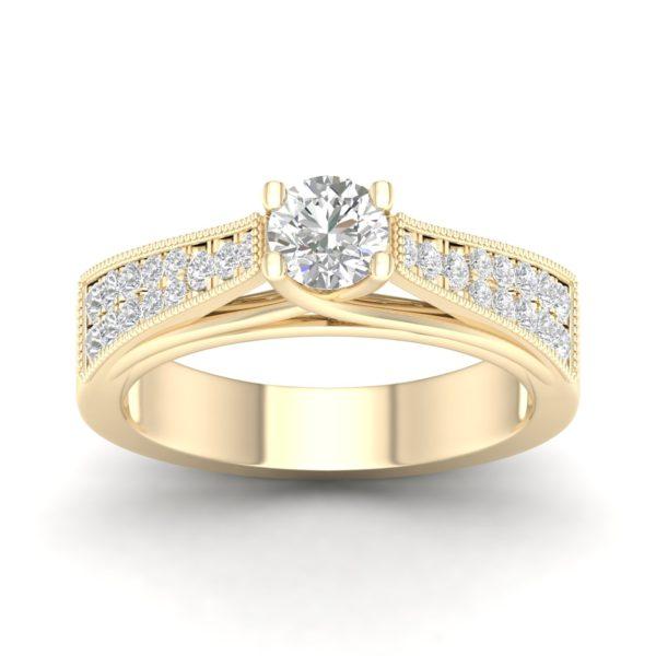 Kullast sõrmus teemantidega 0,55 ct. Kood: 27hb