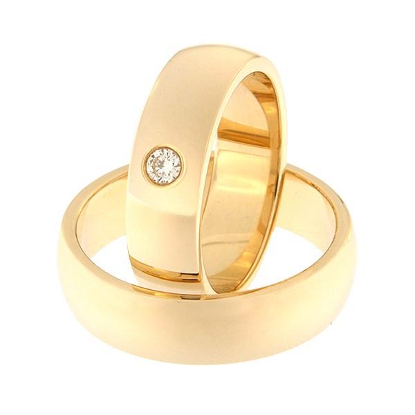 Kullast abielusõrmus teemantidega Kood: Rn0116-6-1K