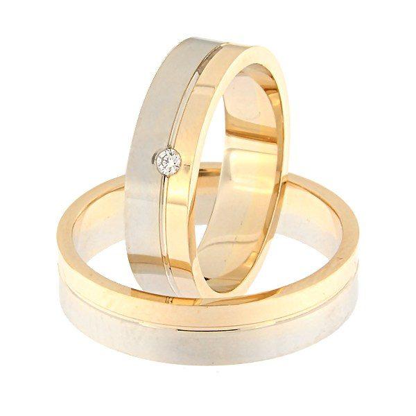 Kullast abielusõrmus teemant Kood: Rn0152-5-1/3kl-2/3vm1-1k