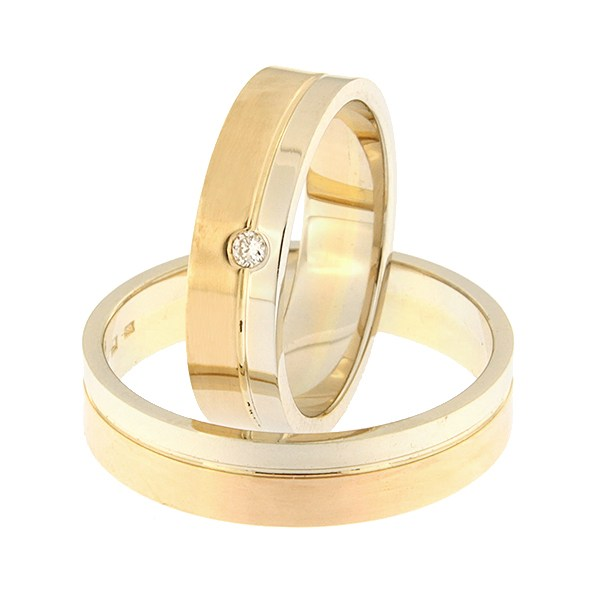 Kullast abielusõrmus Kood: rn0152-5-1/3vl-2/3km1-1k