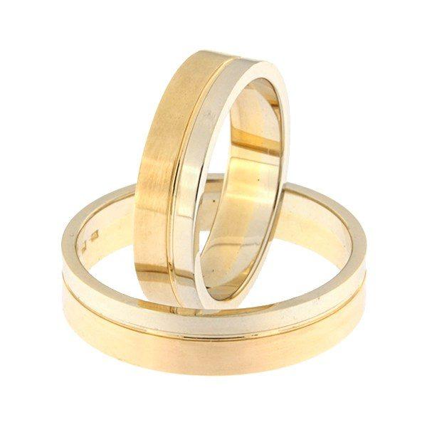 Gold wedding ring Code: rn0152-5-1/3vl-2/3km1