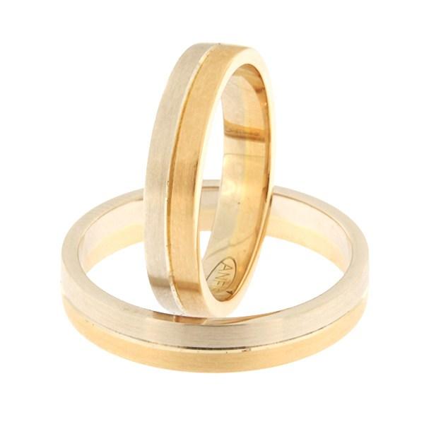 Kullast abielusõrmus Kood: rn0166-4-1/2vm1-1/2km1