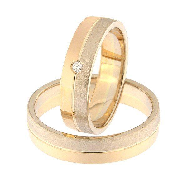 Kullast abielusõrmus teemantiga Kood: Rn0166-5-1/2vm2-1/2kl-1k