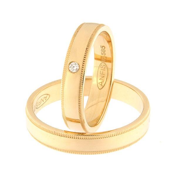 Kullast abielusõrmus teemantiga Kood: Rn0171-4-kl-1k