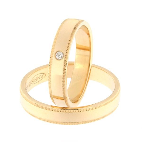 Kullast abielusõrmus Kood: rn0171-4-kl-1k
